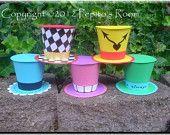 Print-INK Alice In Wonderland Top Hat Set (5) - Printable PDF Color Template - PR