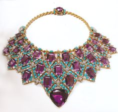 Created by CARTIER Paris for the Duchess of Windsor  in 1941 | 18k yellow gold with an amazing array of Amethysts, Turquoise, and Diamonds.