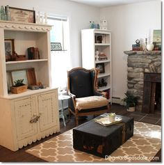Country Cottage Decor – Decorating With White & Brown. DagmarBleasdale.com #white #livingroom