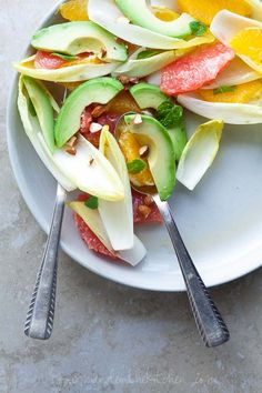 A Light and Refreshing Citrus Avocado Endive Salad