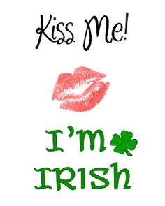 I'm Irish holiday, free time, luck, time frolic, st patricks day, st patti, irish, patrick printabl, stpatrick