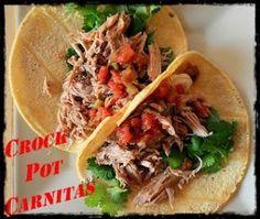 Crock Pot Carnitas Tacos www.247moms.com #247moms