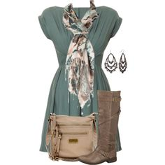 boot, color combos, cloth, autumn outfit, fashion style, the dress, scarves, teacher outfits