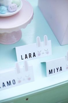 Bunny place cards fr