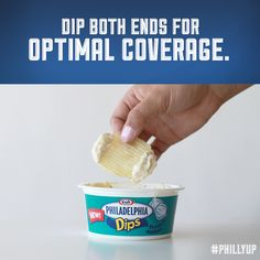 Say goodbye to double dippers with this handy trick. Dip the end of your chip in both ends for optimal coverage.