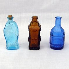 Three Vintage Bitters Bottles