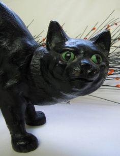 Cast Iron black cat Doorstop Vintage Door Stop by AustinModern, $55.00