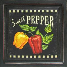Black Rustic Wood Sweet Pepper Framed Wall Art | Shop Hobby Lobby