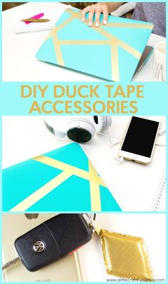 Back to School doesn't have to be boring! We are taking a break  from the books and focusing on fun things today like making these awesome Duck  Tape accessories! #crafts #teen  #teens #teencrafts #craftsforteens #craftideasforteens #teencraftideas  #diysforteens #teendiy #diyprojectsforteens #diyteencraftprojects #hacks  #lifehacks #diy #backtoschool
