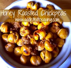 Honey Roasted Chickpeas Recipe. Easy to make, good for you and frugal. Love it!