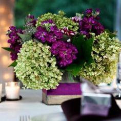 Purple+Fall+Wedding | purple fall wedding reception | weddinggawker