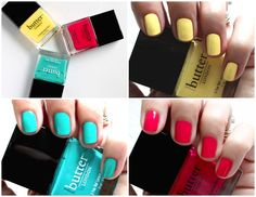 Butter London - My Favorite Nail Polish For Summer - Cheeky Chops Slapper Snog Swatches