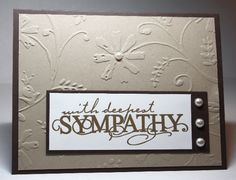 sympathy card nicely done