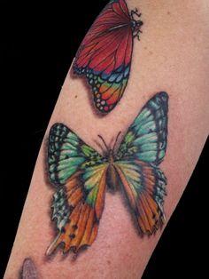 rachel gilbert, tattoo, bright butterflies