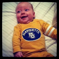 Eve Lucille Weber is ready for basketball season. Her parents are Maggie (Seeler) Weber, Arts '07, and Charlie Weber, Bus Ad '06 and MBA '09.