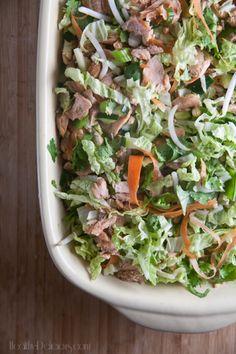Crunchy Salmon Salad from Healthy-Delicious.com