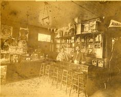 Interior view of an ice cream parlor located on Maclay Avenue between 1st and 2nd Streets in San Fernando, Calif. Nathaniel Pico (son of Benjamine and Anna Forrester Pico) and Eugene Oliver are visible behind the counter. San Fernando Valley Historical Society. San Fernando Valley History Digital Library