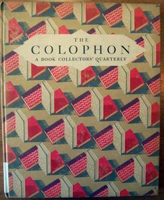 :: Cover of The Colophon: a Book Collectors' Quarterly. Part Seven, 1931 ::