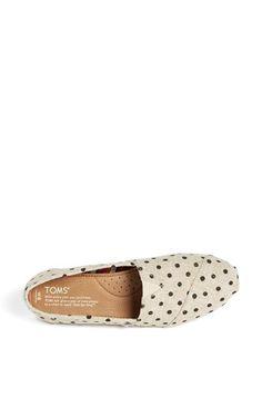 TOMS 'Classic - Polka Dot' Linen Woven Slip-On (Women) | Nordstrom