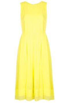 Cute midi dress in Pantone's color of summer: lemon zest.
