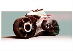 Futuristic Motorcycle