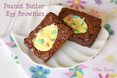 Peanut Butter Egg Brownies