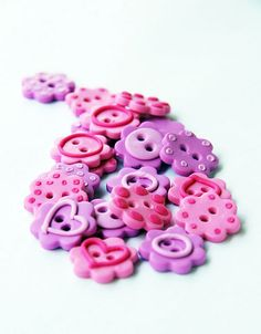 polymer clay flower buttons by Nalin