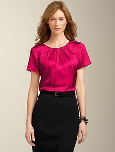 shiny blouse