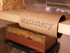 This is a great idea for a shop display...Nice! michele made me: Cardboard Tube Clip-On Shelf Labels.