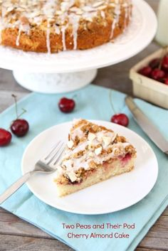 Cherry Almond Cake from @Maria (Two Peas and Their Pod)