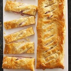 Ham and Cheese Slab Pie!
