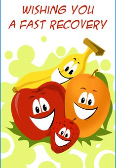 Free Printable 'Fast Recovery' get well Greeting Card