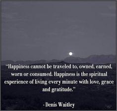 Love, grace and gratitude.