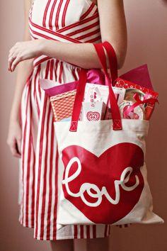 Valentine's Day love tote photo by Alison Conklin