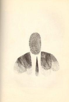 Saul Steinberg draw, fingerprint art, inspir, fingerprints, saul steinberg, design, illustr, charl simic, fingerprint man