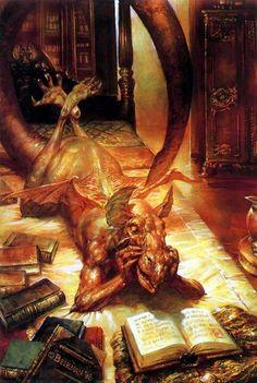 books, fantasi, dragons, art, fairi, dragon fetish, book dragon, diabol dragon, dragonesqu