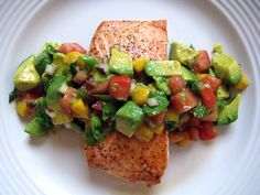 Salmon recipe with mango salca and avocado    Click to see the recipe