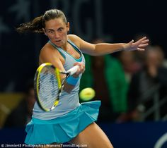 Roberta Vinci goes for it! Wednesday at the BGL BNP Paribas Luxembourg Open http://www.womenstennisblog.com/2014/10/15/tough-day-top-seeds-luxembourg-highlights/