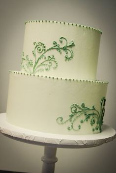 This is my favorite cake. I love the simple design. It is simple, yet elegant with just enough decoration.