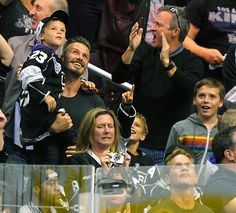 David Beckham bonded with his three sons at the Stanley Cup finals