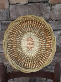 Gullah Sweetgrass Braided Oval Basket Fanner by SweetgrassBasketry,