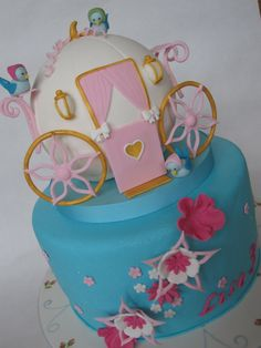 A Cinderella Carriage Cake