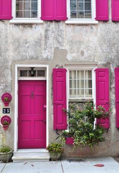 we love colorful doors!