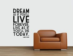 James Dean Quote Dream as if you'll live by InspirationsByAmelia, $23.98