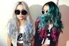 @Laura Sieberth hair colors, fashion, friends, style, wavy hair, sunglass, long hair, beauti, dip dye