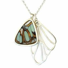 Beautiful Butterfly Wing Necklace.