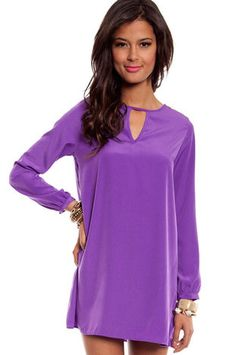 Tamara Dress in Purple $37 at www.tobi.com