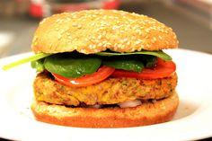Southwestern Pinto Bean Veggie Burgers food recip, pinto beans, bean veggi, burger recipes, southwestern pinto, bean burger, veggie burgers, picky eaters, veggi burger