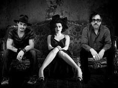 Johnny Depp, Helena Bonham Carter & Tim Burton <3