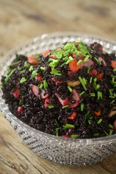 Meatless Monday: Forbidden Rice Salad With Pickled Vegetables love this rice!!!